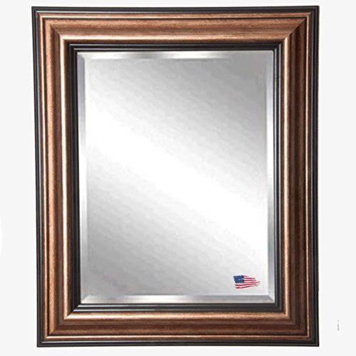 American Made Rayne Traditional Bronze Beveled Wall Mirror, 21.5 X 25.5 front-363536