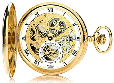 Royal London Pocket Watch 90028-02 Gold Plated Double Hunter
