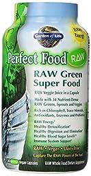 Garden of Life Perfect Food Raw Organic Green Super Food, 480 Capsules
