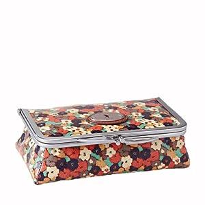 fossil key per floral damen kosmetiktasche mit spiegel koffer rucks cke taschen. Black Bedroom Furniture Sets. Home Design Ideas