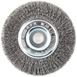 "Lincoln Electric KH320 Crimped Wire Wheel Brush, 6000 rpm, 6"" Diameter x 1/2"" Face Width, 5/8"" x 1/2"" Arbor (Pack of 1)"