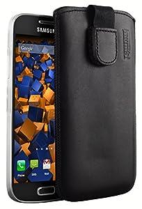 mumbi ECHT Ledertasche Samsung Galaxy S4 mini Tasche Leder Etui (Lasche mit Rückzugfunktion Ausziehhilfe)