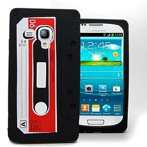 Accessory Master Housse en silicone pour Samsung Galaxy S3 Mini i8190 Motif Cassette Noir