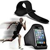 Black iPhone 5-5s-5c Running Armband Case Cover Holder for Cycling, Jogging, Fitness Training, Boot Camp, Exercise, Sports, Outdoor Activities, Gym Cases Covers and Accessories for New Apple iPhone 5-5s-5c by iChoose®