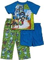 AME Sleepwear Big Boys' Skylanders 3 Piece Pajama Set