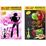 College Fun & Double Apple Hookah Flavour Pack Of 2