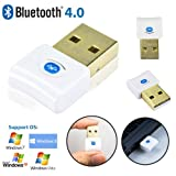 SAVFY Version 4.0 mini USB Bluetooth 4.0 Dongle Adapter High Speed for PC Desktop and Laptop/ Notebook, Compatible with Window XP / Vista / Windows 7 or 8 (32-Bit + 64-Bit), Support Bluetooth v4.0, v3.0, v2.1 v2.0