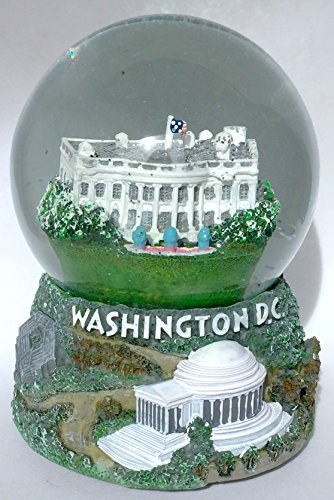 Washington DC White House Monuments Pentagon 100mm Musical Snow Globe Glitterdome