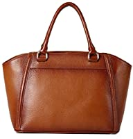 Heshe Luxury Cowhide Top Layer Soft Leather Top-handle Shoulder Handbag for Business