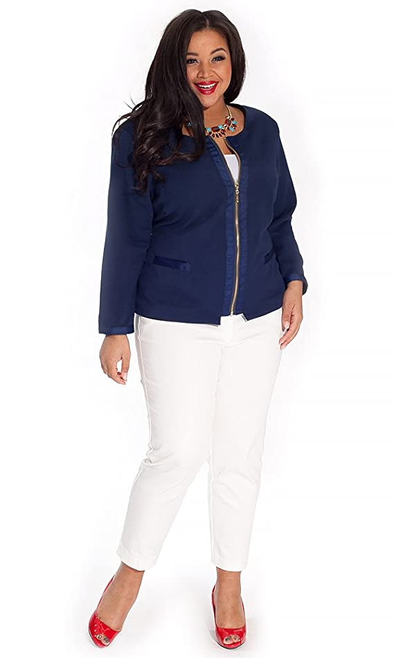 IGIGI Women's Plus Size Louise Jacket in Navy
