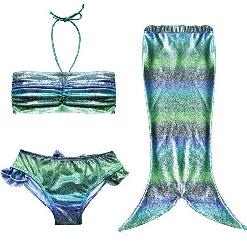 Très Chic Mailanda Mädchen Bikini Set Kleinkind Badeanzug Bademode Meerjungfrau-Schwanz Bade Kostüm