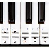 Nouveau - Autocollants Keysies amovibles en plastique transparent pour touches de piano et clavier - avec guide pratique d'installation.