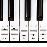 Autocollants Keysies amovibles en plastique transparent pour touches de piano et clavier - avec guide pratique d\'installation.