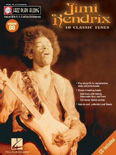 ジャズ・プレイ・アロング 第80巻: ジミ・ヘンドリックス(CD付)(Bb, Eb, C Instruments)/ハル・レナード社/ギター・ソロ