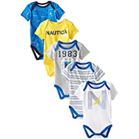 Nautica Baby-Boys Newborn 5 Pack 1983 Bodysuit, Assorted,