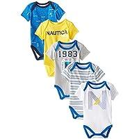 Nautica Baby-Boys Newborn 5 Pack 1983 Bodysuit, Assorted,