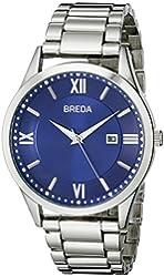 Breda Men's 9408A Analog Display Quartz Silver Watch