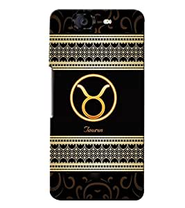 Fuson 3D Printed Sunsign Taurus Designer back case cover for Micromax Canvas Knight A350 - D4271