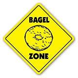 BAGEL ZONE Sign hot fresh bagels coffee shop slicer
