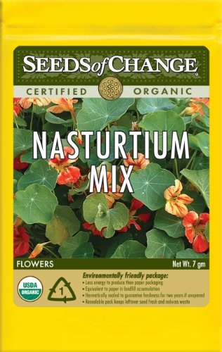 Seeds of Change S15930 Certified Organic Nasturtium Mix, Trailing Vine