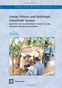 Energy policies and multitopic household surveys for Design of household survey