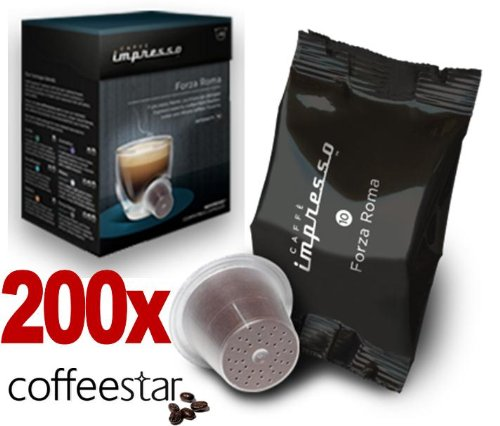 Purchase 200 x Caffè Impresso Nespresso Compatible Coffee Capsules / Pods Forza Roma from Espresso Coffee Capsule