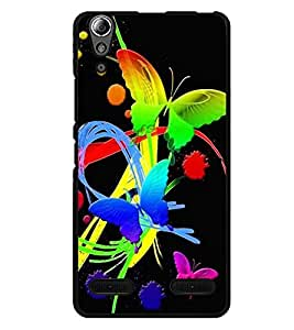 Crazymonk Premium Digital Printed Back Cover For Lenovo A6000 Plus