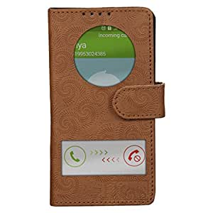 Dsas Artificial Leather Flip cover with screen Display Cut Outs designed for Microsoft Lumia 640