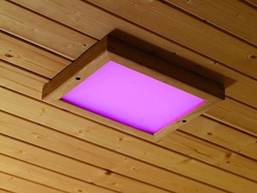 Karibu-LED-Farblicht-Gre-2-inkl-Fernbedienung-Auenma-B-x-T-320-x-240-x-38-cm-Beleuchtung-LED-7-Farben-sanfter-bergang-Zubehr-inkl-Fernbedienung-Einsatzbereich-Sauna-und-Infrarotkabine-bis-110