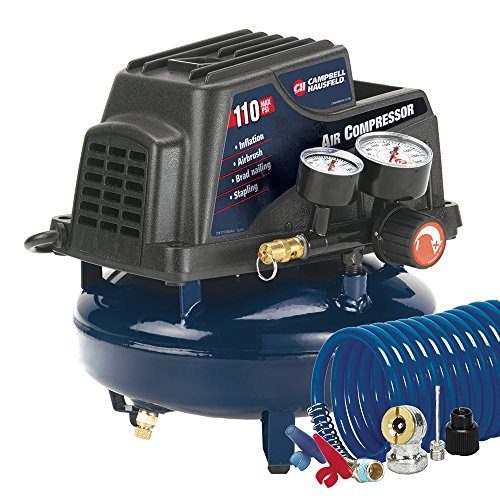 Campbell Hausfeld Air Compressor, 1-Gallon Pancake Oilless .36 CFM .33HP 120V 3A (FP2028) (Storage Be Ch compare prices)