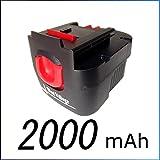 【 大容量:2000mAh 】 【 6ヶ月保証 】 BLACK&DECKER ブラックアンドデッカー A12 A12EX 互換バッテリー スライド式バッテリーパック 12V 2000mAh NI-CD