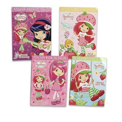 2 Piece 96pg Strawberry Shortcake Coloring Book - Assorted - 1