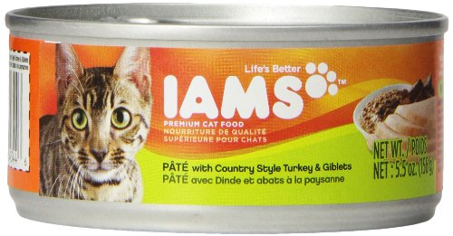 Iams Proactive Health Adult Pate With Country Style Turkey And Giblets, 5.5-Ounce Cans (Pack Of 12)