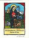 Patron of Cats Art Print: St Gertrude…