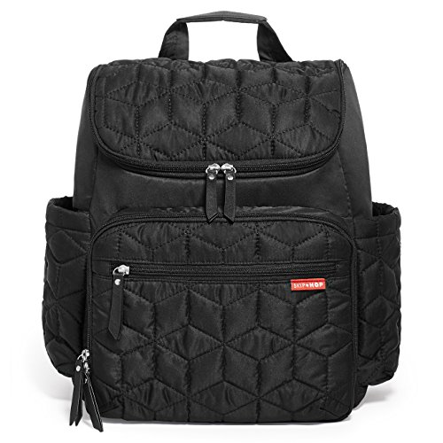 Skip-Hop-Baby-Forma-Pack-and-Go-Diaper-Bag-Backpack-with-Insulated-Changing-Pad-and-Bottle-Packing-Cubes-11-Pockets-Black