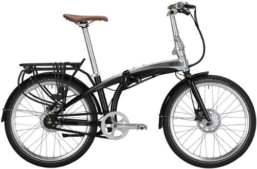 Fahrrad 24&quot;, black mirror, 11-Gang