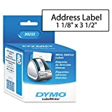 Address Labels, 1-1/8&quot;x3-1/2&quot;, 350 Labels/RL, 2RL/BX, White