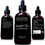 Virgin Argan Oil - 100% Pure Argan Oil For Hair, Skin, Face, & Nails. Cold-pressed, USDA/Eco-certified Organic. Highest Quality Moroccan Oil - Satisfaction Guaranteed!