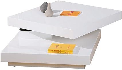 Links 20800920 Couchtisch weiß hochglanz Wohnzimmertisch Wohnzimmer Tisch Design modern 75x75