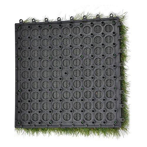Golden moon grass tile series pp interlocking grass deck tiles artificial anti wear turf tiles - Interlocking deck tiles on grass ...