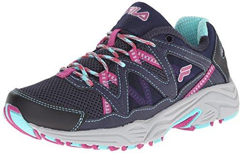 Fila Women's Vitality V Running Shoe, Navy/Aruba Blue/Fuchsia, 7.5 M US