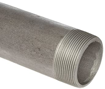 Anvil 325 Steel Pipe Fitting, Schedule 80, Seamless Nipple, NPT Male, Extra Heavy, Black Finish