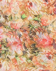 VB Woman's Scarf, fashionable - with decorative floral-pattern