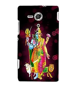 Varada Ardha Nariswara 3D Hard Polycarbonate Designer Back Case Cover for Sony Xperia SP :: Sony Xperia SP M35h