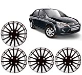 Auto Pearl - Premium Quality Car Full Wheel Cover Caps Black and Silver 14 Inches Press TypeFor - Ford Fiesta Classic