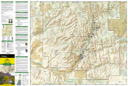 Zion National Park (National Geographic Trails Illustrated Map) national park architecture source