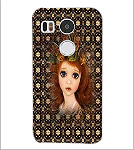 PrintDhaba Sweet Girl D-5049 Back Case Cover for LG NEXUS 5X (Multi-Coloured)