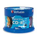 Verbatim 94587 700 MB 52X Digital Vinyl CD-R - 50-Disc Spindle