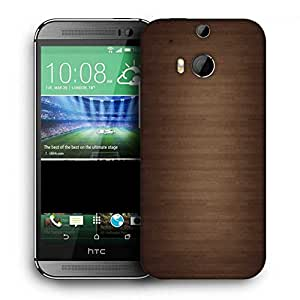 Snoogg Wood Wall Pattern Design Printed Protective Phone Back Case Cover For HTC One M8