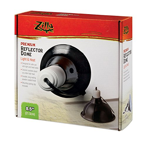 Zilla Reptile Terrarium Heat Lamps & Habitat Lighting Dome, Blk 8.5-in (Heat Lamp For Lizards compare prices)